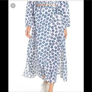 The Fifth Label Floral Wrap Maxi Skirt